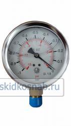 Вакуумметр глицериновый D=100 g1/2